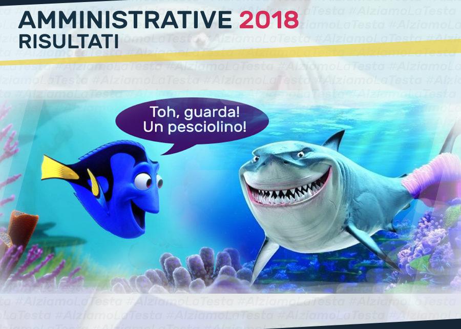 Amministrative 2018: Dory vede un pesciolino